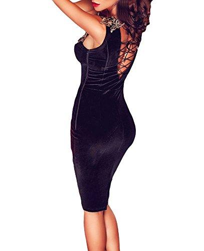Cfanny - Robe - Moulante - Femme Noir - Noir