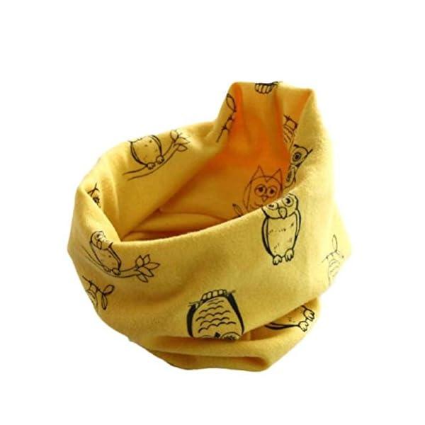 Xinantime Bufandas del Bebé,Xinan Invierno Niño Niña Collar Plátano Algodón Pañuelos Búho (Caqui) 1
