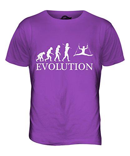 CandyMix Zirkus Zirkusartist Evolution Des Menschen Herren T Shirt Violett