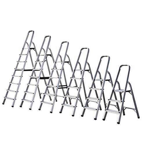 Escalera de aluminio de 3 4 5 6 7 8 peldaños, escalera ligera plegable, escalera portátil antideslizante...