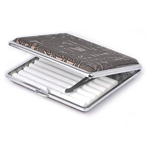 Pitillera Caja de Cigarrillos para 20 Cigarros Especificaciones: Material: metal Dimensión: aprox 9.7 * 9.3 * 1.9cm Color: como se muestran.  ❤ Diseño elegante, exclusivo y elegante. ❤ Conveniente llevar en el bolsillo o bolso del negocio. ❤ Es re...