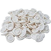 Dedales de látex, cubiertas protectora para los dedos (200 unidades), protegen de la estática, para vendajes secos y limpios