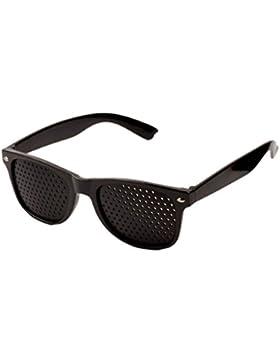 Ckeyin Occhiali da Sole A Fori Stenopeici Pinhole Glasses Per La Cura Miglioramento Visiva Vision