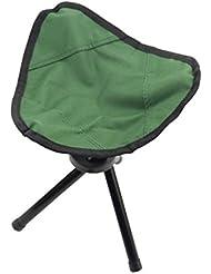 Katech Tabouret de pêche pliant Camping Randonnée légère portable Triangle Chaise pique-nique barbecue trépied Chaises Assise