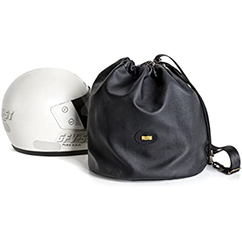 Bolsa o funda para casco de moto en ecopiel de máxima elegáncia