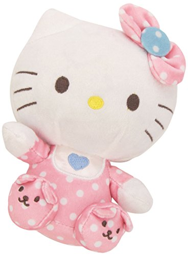 Hello Kitty - Peluche baby con sonajero, 15 cm, color rosa (TY 41023TY