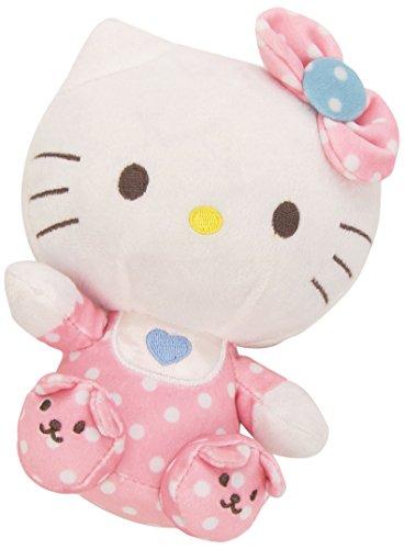 Hello Kitty - Peluche baby con sonajero, 15 cm, color rosa (TY 41023TY)