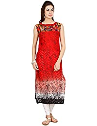 D2Nine Women's Cotton Round Neck Kurti