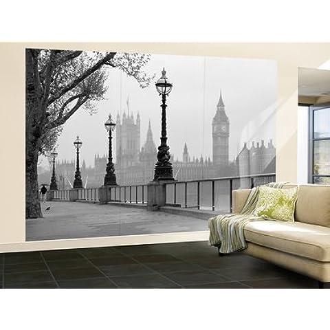 Walplus JP-TZOP-G13P - Mural de pared, 366 x 254 cm, diseño London Fog, color gris