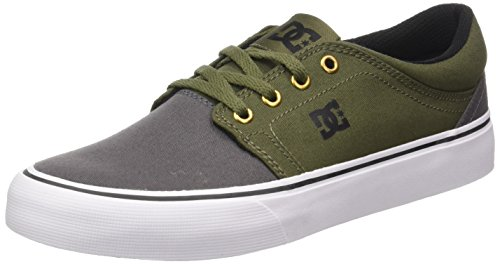 DC Shoes Trase Tx, Baskets Basses Homme Multicolore (Grey/Black/Green)