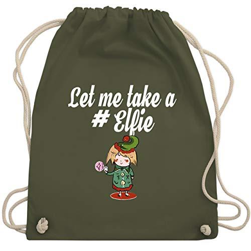 ter - Let me take a #Elfie - Unisize - Olivgrün - WM110 - Turnbeutel & Gym Bag ()