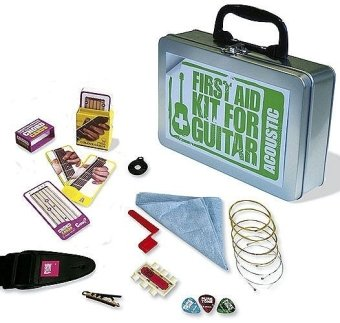 First Aid Kit For Acoustic Guitar: Zubehör für Gitarre (Guitar Kit) (Gitarre Zubehör)