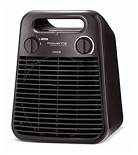 Rowenta Sprinto Silence - Termoventilador vertical, 2400 W, 2 posiciones, 47 dBA, termostato, protección antiheladas, asa transporte, color gris-chocolate (B0058U1XOE) | Amazon price tracker / tracking, Amazon price history charts, Amazon price watches, Amazon price drop alerts