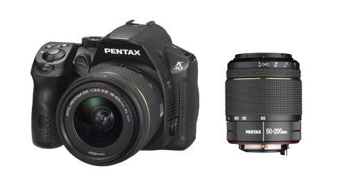 Pentax-K-30-Fotocamera-e-Obiettivo-DA-18-55mm-WR-e-DA-50-200mm-WR-Sensore-CMOS-APS-C-da-1649-Megapixel-Display-LCD-da-3-Video-Full-HD-Nero