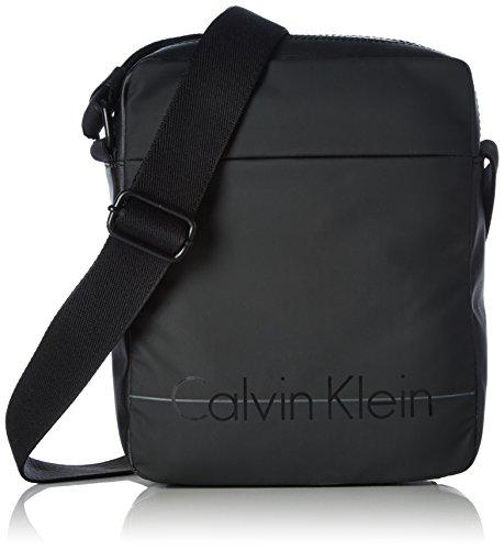 Calvin Klein Logan 2 Reporter Borsa Messenger, 75 cm, Nero