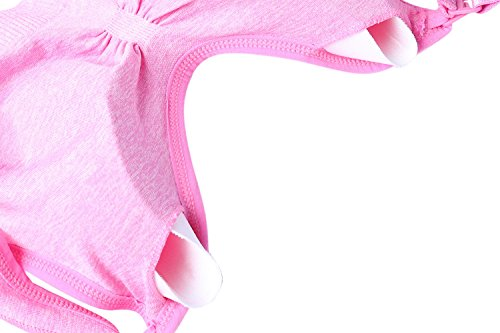Aibrou Reggiseno per Allattamento, Reggiseno donna da Allattamento senza cuciture e con bretelle in aggiunta removibili. Pink+Pink