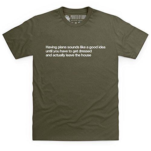 The Best Laid Plans T-Shirt, Herren Olivgrn