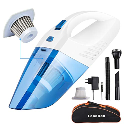 Handheld Vacuum Cleaner 12 V 100 W with 16.4ft/5 m Power Cord Staubsauger Wet and Dry Car Vacuum Cleaner Hepa Filter Vacuum Cleaner for Car Dust and Liquids - Staubsauger for Car,+ (1)