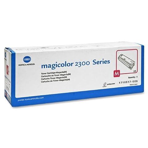 Qms Konica Minolta Magicolor laser toner printer cartridge 2300 2300W 2300DL 2300EN 2350 red Magenta ( Standard Capacity)
