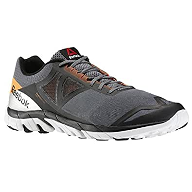 Reebok Men's Zstrike Run Grey, Light Orange, Black and White Running Shoes - 13 UK