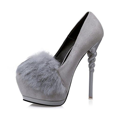 FLYRCX Europea di autunno e inverno ammenda tacco piattaforma impermeabile  lady sexy party scarpa tacco alto