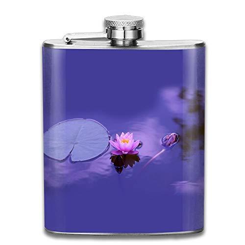 Lotus Natural (Lotus Natural Water Meditation Pocket Leak Proof Liquor Hip Flask Alcohol Flagon 304 Stainless Steel 7OZ Gift Box Outdoor)