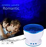 FLY-SHOP-Talento di Onde Oceano - Proiettore di Luce Notte + Atmosfera Romantico + Effetto di Onde Oceano + Mini MP3 Altoparlante