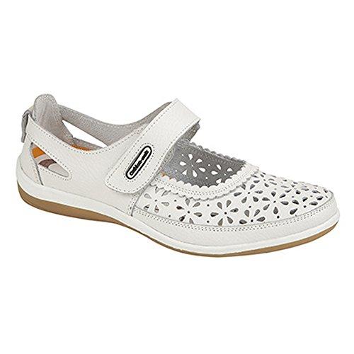 boulevard-scarpe-chiusura-a-strappo-donna-38-eu-bianco