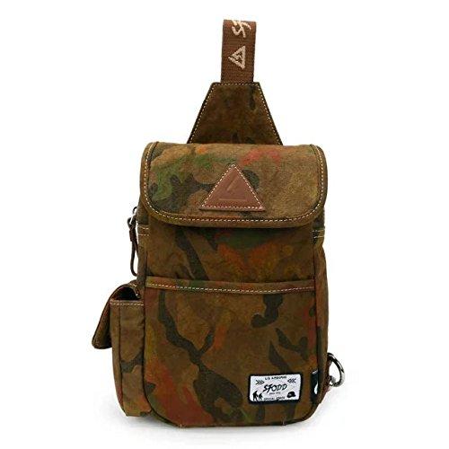 DANNY BEAR Torace Borsa Mens Nuovo Design Vintage Casual Tela Spalla Piccola Pack con Tracolla Singola(Kaki)