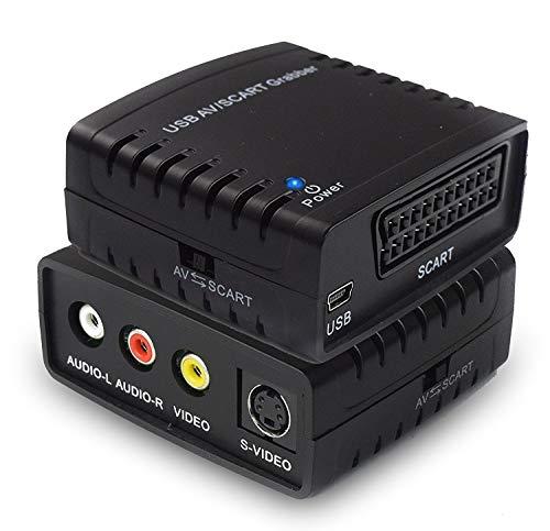 Rybozen USB Video Grabber Adapter- TV / Hi8 / VHS zu Digital Grabber, Video Converter mit Scart Adapter