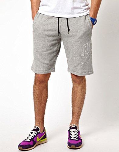 Nike aW77FLC short-air hRTG–Pantalon court pour homme Gris (Dk Grey Heather / Obsidian)