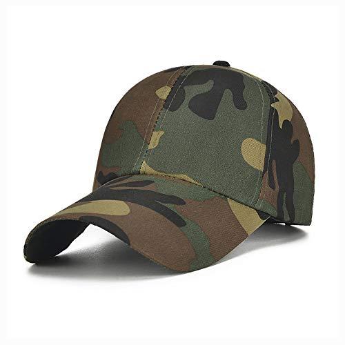 Cappelli moda, Cappelli eleganti, cappel Hut Baseballmütze Erwachsene Tarnung Militärische Ausbildung Sonnencreme Baseballmütze Sommer Camouflage Sun Cap ( Farbe : Green , Größe : 56-60CM )