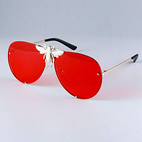 ZHOUYF Sonnenbrille Fahrerbrille Metall Big Bee Aviator Sonnenbrille Verlaufsglas Uv400 Retro Herren- Und Damen Tone, E