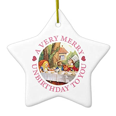 Christmas Ornaments A Very Merry Birthday To You Holiday Tree Ornament Both Sides Star Ceramic Ornament Crafts Christmas Gifts