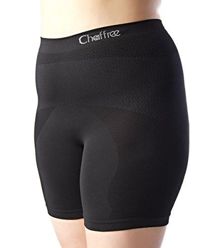 Chaffree Anti Chafing Women Knickers Boxers | Boxershorts | Yoga Running Activewear Underwears Boy Shorts Ladies Lingerie (M/L; Waist-Full; Leg-Short, Jet)