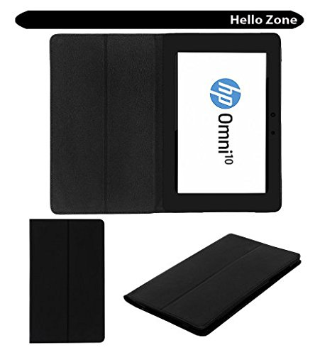 Hello Zone Exclusive Black Leather Flip Case Cover for Hp Omni 10 Tablet  available at amazon for Rs.289
