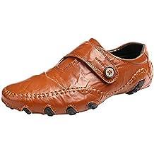 Hombre Zapatos De Vestir Planos Oxford Zapatos De Cuero Estilo ... a5c498e186dc2