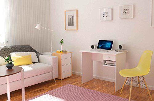 meka block k 9453b bureau 1 tiroir 90 cm de largeur couleur blanche int rieur maison. Black Bedroom Furniture Sets. Home Design Ideas
