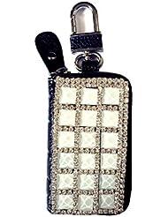 Porte-monnaie/porte clé Blingbling en vrai cuir avec décoration strass brillant
