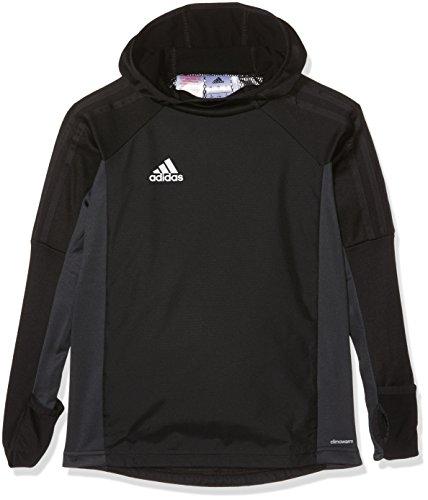 adidas Kinder Tiro 17 Langarmshirt, Black/Dark Grey/White, 128 Preisvergleich