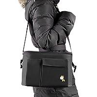 Bolsa de cochecito de gran capacidad bolso de la momia portátil del pañal del bolso del carrito del bebé Organizador del cochecito bolso