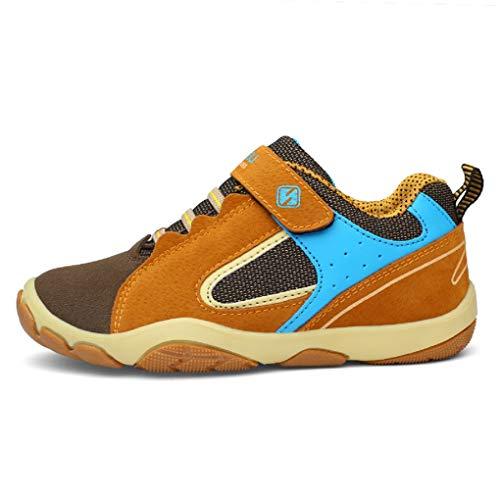 Turnschuhe Kinder Hallenschuhe Jungen Sportschuhe Mädchen Laufschuhe Sneaker Outdoor für Unisex-Kinder (28 EU, 808-Graues Gelb(HUIH)) - Für Graue Kinder Turnschuhe
