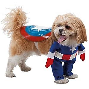 Fycar Déguisement de Super Héro Captain pour Chien