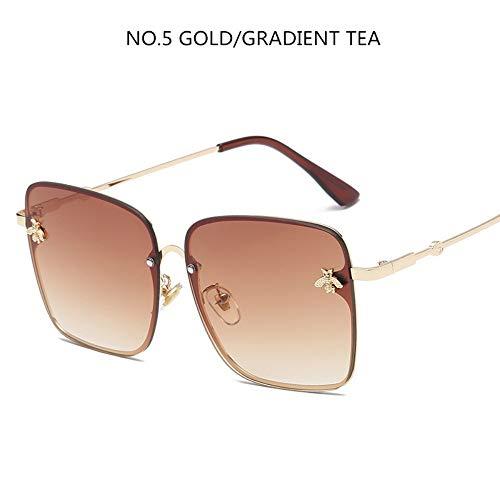 BUYAOAQ Große Eckige Sonnenbrillenmänner- Und Damen-Promi-Sonnenbrille, Weibliche Farbe, A
