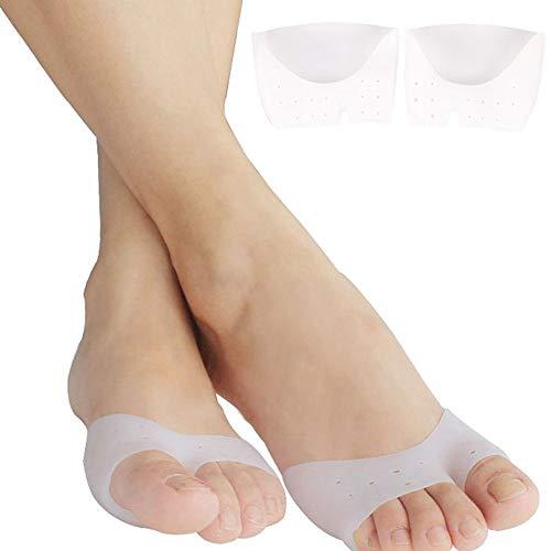 1 par de almohadillas de pie para cojines de metatarsianos alivio del dolor. Almohadilla de soporte de pies de gel de silicona para el neuroma de Morton, fascitis plantar y metatarsalgia.