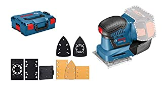Bosch Professional 18V System Akku Schwingschleifer GSS 18V-10 (Schwingkreis-Ø: 1,6 mm, 3 Grundplatten mit unterschiedlichen Formaten, ohne Akkus und Ladegerät, in L-Boxx) (B01LXHOMR5) | Amazon price tracker / tracking, Amazon price history charts, Amazon price watches, Amazon price drop alerts