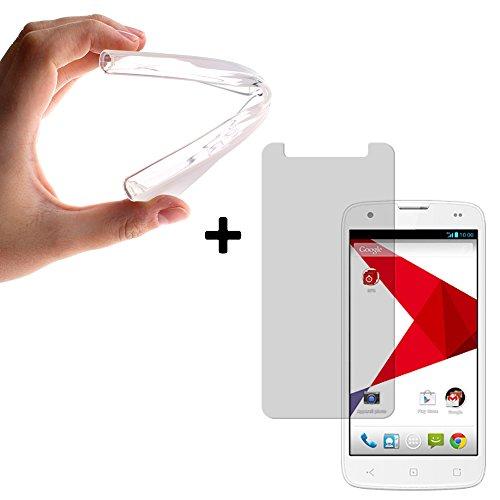 BeCool® - Etui Housse Startrail 5, coque silicone Gel TPU en couleur transparent + 1 Film de protection d'écran [ Verre Tempré ]de dureté 9H.