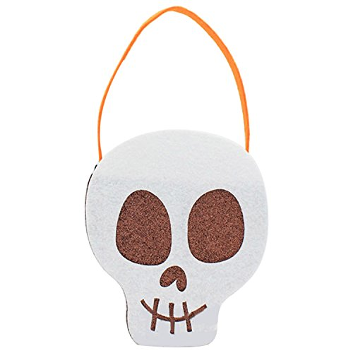 Halloween Leckereien Süße Für (Lustige Halloween-Party-Süßes sonst gibt's Saures Goody Süßigkeit-Geschenk-Tote Handtasche Stereo-Platz für Raum mit Griff)