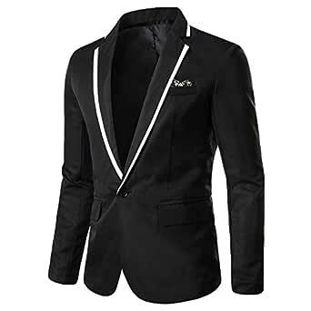 Sunward Coat for Men,Men's Casual Solid Blazer Business Party Outwear Coat Suit Tops Black