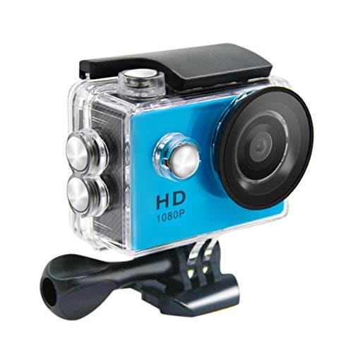 Videocamera per videocamera ad azione sportiva Mini A9 DV impermeabile 1080P Full HD (Colore: blu)